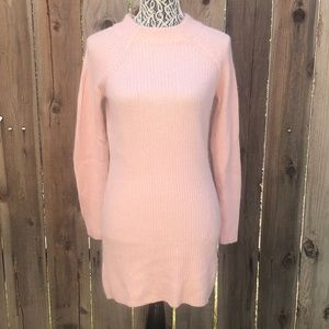 H&M Pink Sweater Dress Size Small